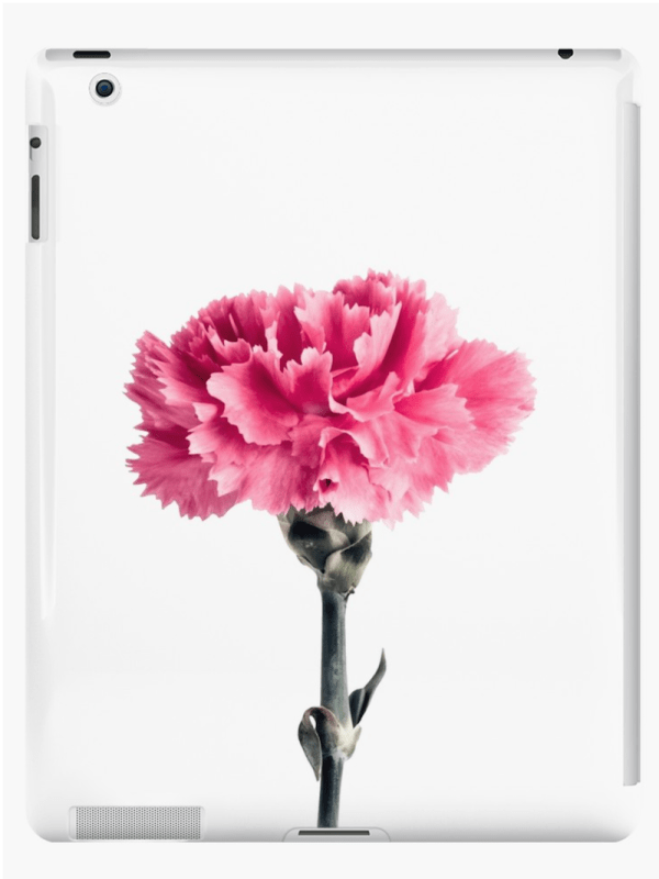 Carnation flower iPad cases