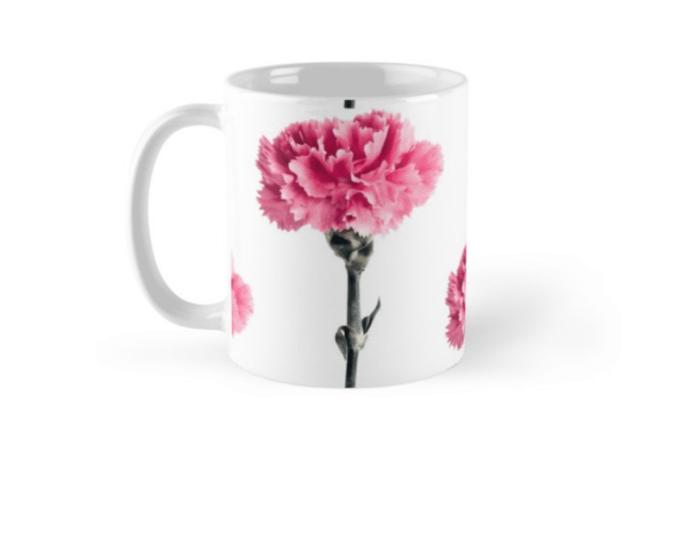 Carnation Flower mugs