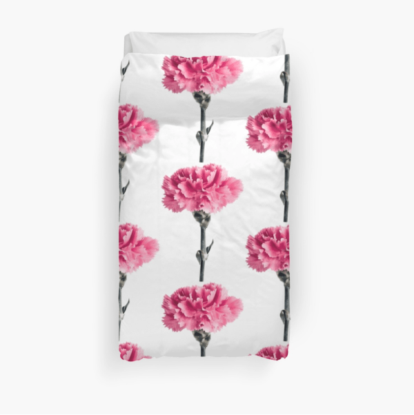 Carnation Flower Duvet cover - twin