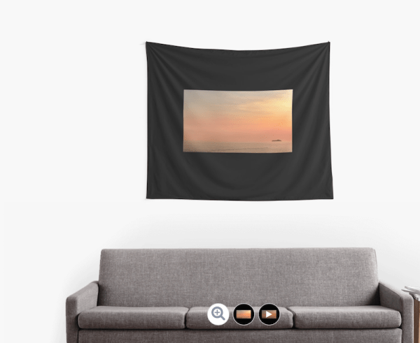 Dubrovnik sunset wall tapestry
