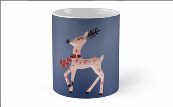 christmas reindeer mugs