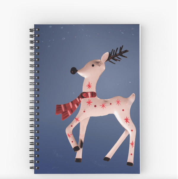 christmas reindeer notebook
