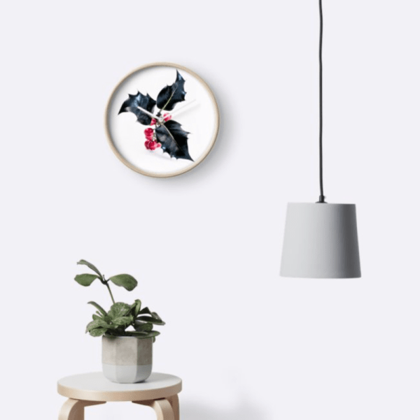 holly wall clock