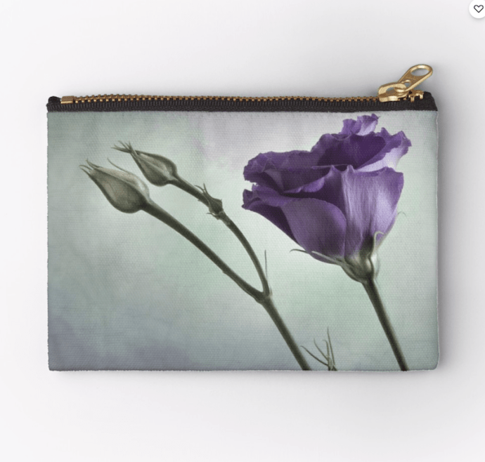 purple flower purse