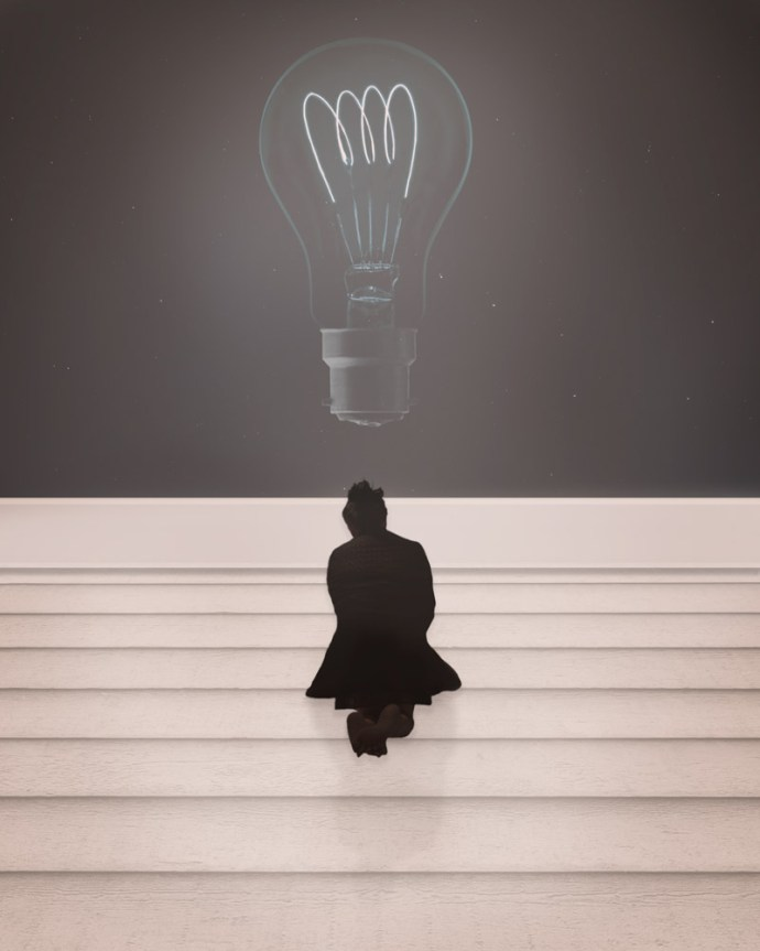 part II - bright ideas with floating lightbulbs