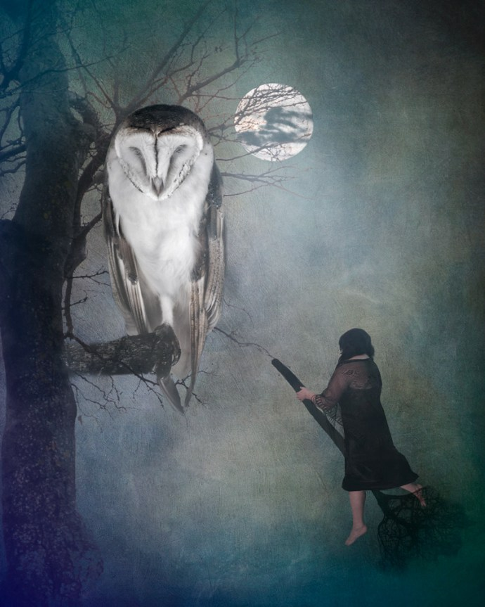 witch in the night fine art photography