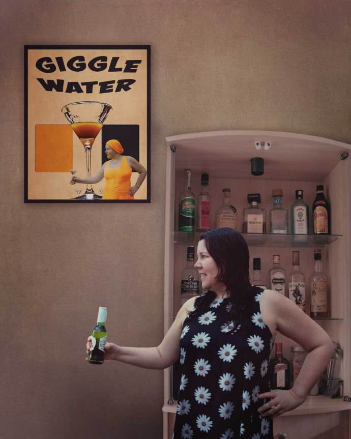 Recreating the giggle water poster from 1920 in a modern day image