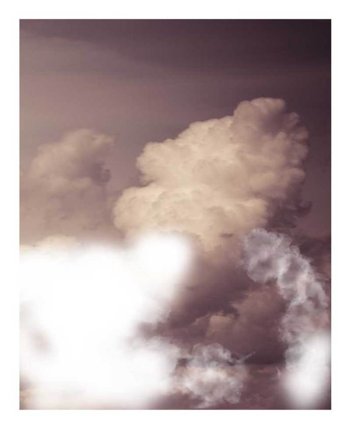 Photograph of clouds used as a texture in my new lockdown series.