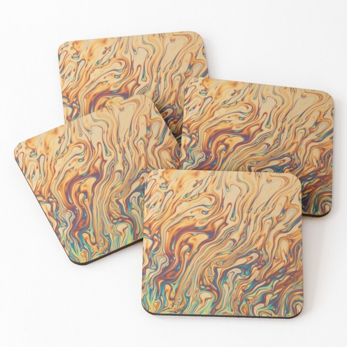 Abstract rainbow coasters from Redbubble