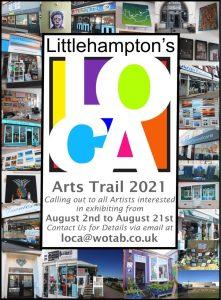 Poster for the 2021 Littlehampton Arts Trail