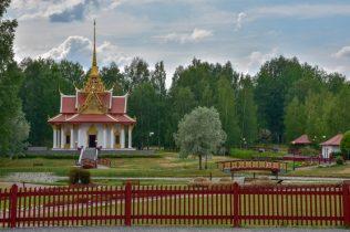 Thailändska templet i Utanede är byggt till minne av kung Chulalongkorns besök i trakten 1897.