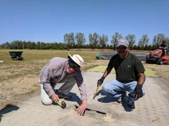 Installing the new stump box