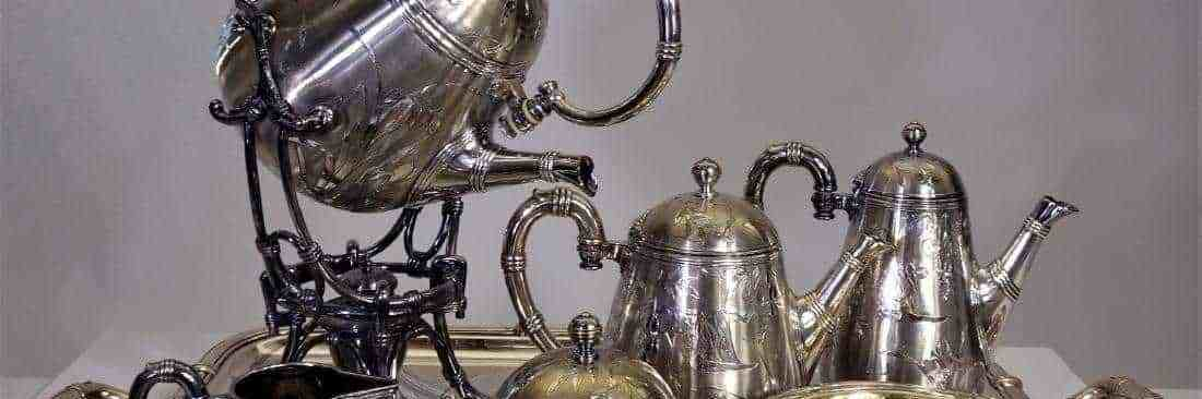 French Christofle Silver Tea Set