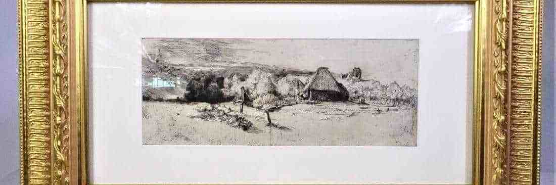 Rembrandt (1606 - 1669) Etching and Drypoint