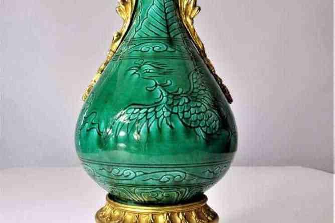 Early Chinese Gilt Ormolu Vase