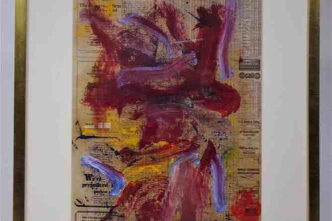 Willem de Kooning (1904-1997), Oil/Newspaper