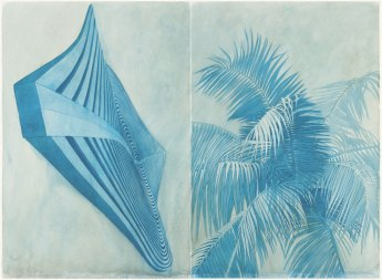 """Robert Stackhouse, Blue 5606, 2006, Off-set lithograph on Arches fine art paper; signed by the artist, 24 ½"""" x 31 ¾"""" , Edition: 100, Images courtesy of Graphicstudio/USF, Photo Credit: Will Lytch"""