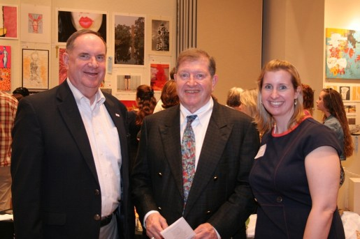 Honorary co-chair Jim Tollerton, sponsor Allan H. Weis, event chair Taylor Collins.