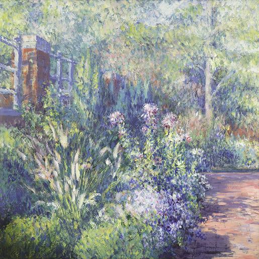 "Summer Day. Acrylic on canvas. 30""x30"" Yeliseyev Art Studio,  (941) 330-6865 4600 Pine Harrier Dr., Sarasota, FL"