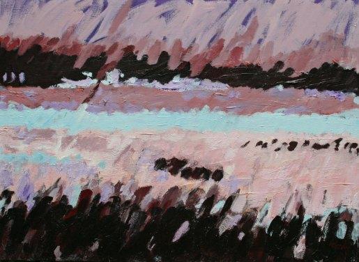 """MIDNIGHT LIGHT - MYAKKA   22"""" X 30""""   acrylic on canvas"""