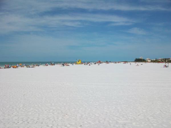 Siesta Beach is Very Wide & Allows Privacy for All