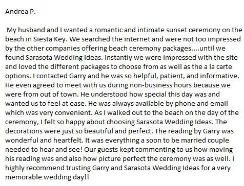 Lido key beach wedding elopement review