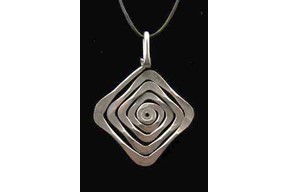 Diamond Spiral Pendant