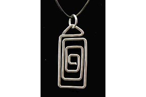 Spiral Rectangle Pendant
