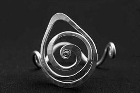 Teardrop Spiral Bracelet