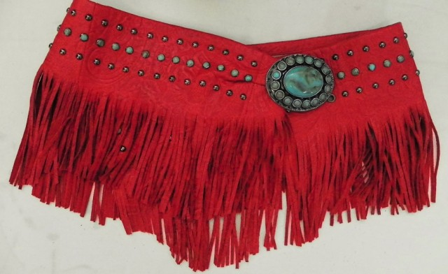 Patricia Wolf Red Bandalero Wrap Belt