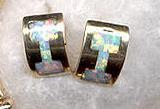 14K Gold Earrings w/Chinese Opal…Christin Wolf