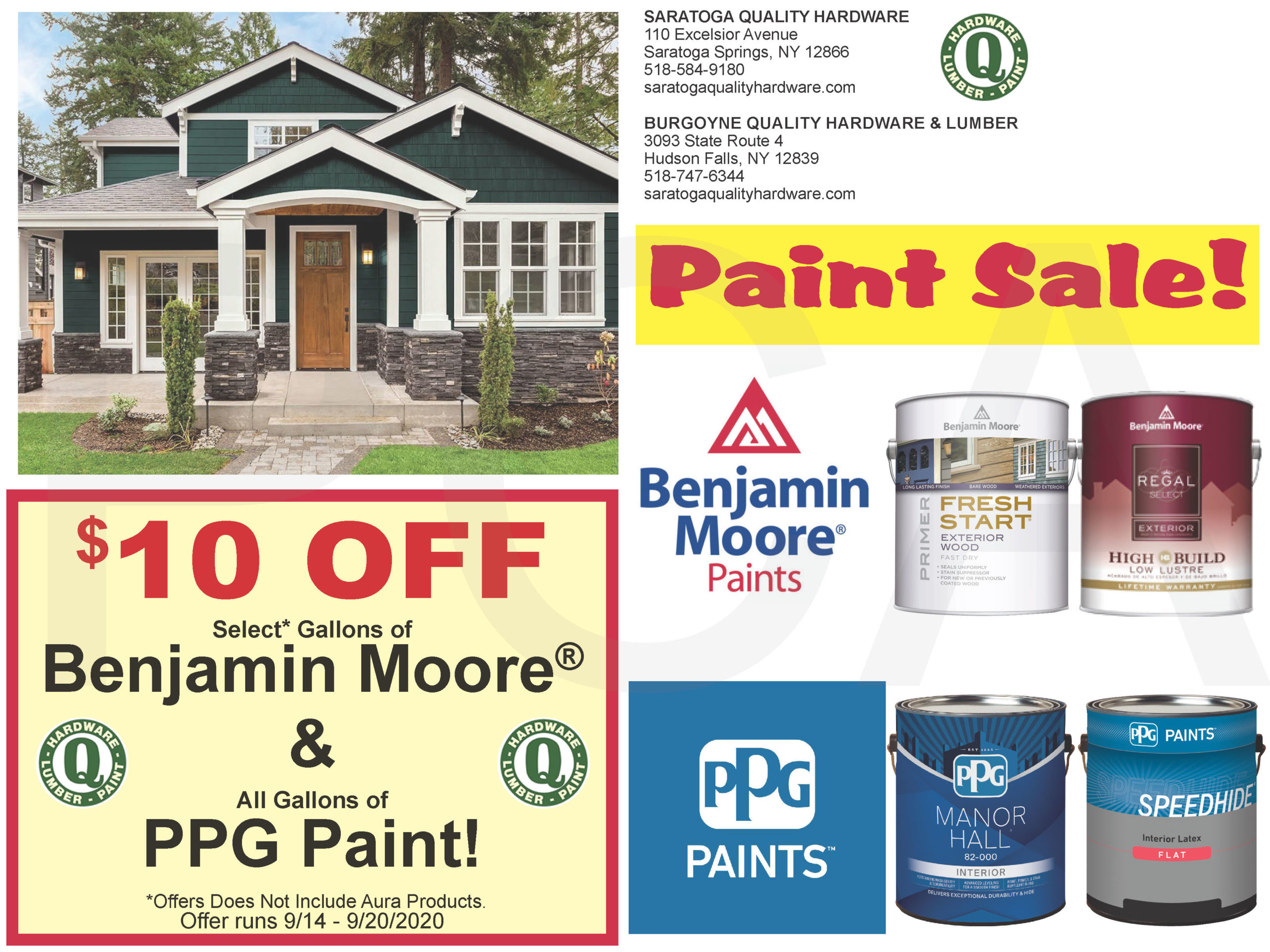 Paint Sale September 14 To 20 Saratoga Quality Hardware