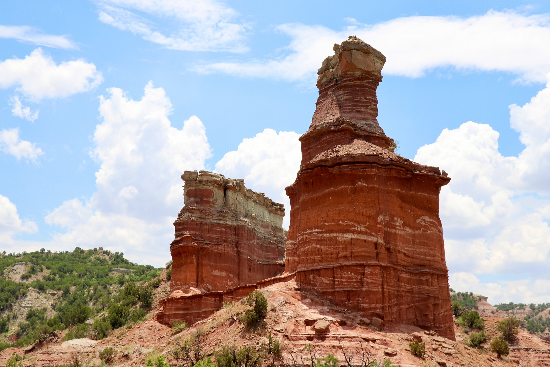 The Lighthouse Rock Formation Photographed By Sara Turbyfill At Palo Duro Canyon.