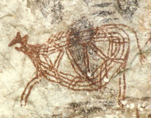 Gua Tambun cave painting, Perak (commons.wikimedia.org photo)