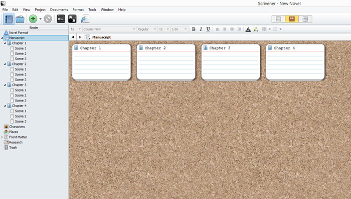 How I use Scrivener to set up chapters and scenes