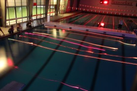 Test with thermal fishing bobs in an indoor pool, RPI, 2014.