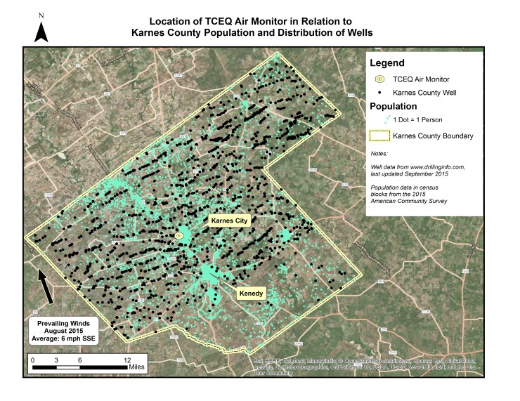 Oil and Gas Wells in Karnes County