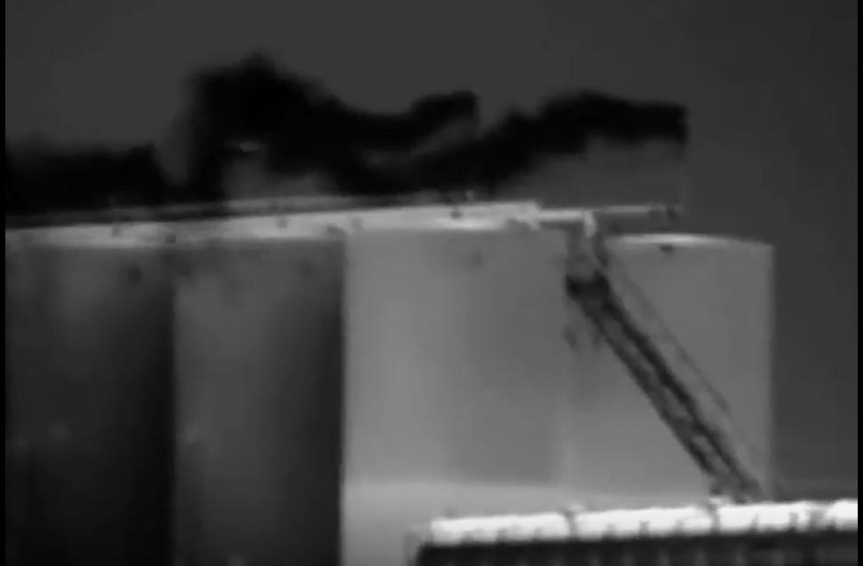 FLIR imaging shows fugitive gases