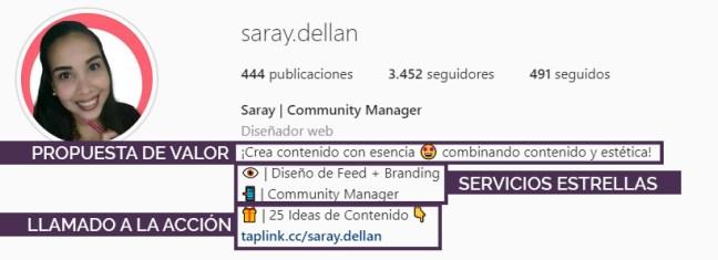Optimiza tu bio en Instagram