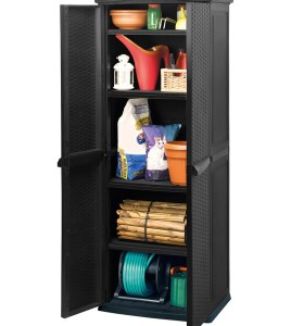 Шкаф садовый Keter Rattan Style Tall Shed под ротанг