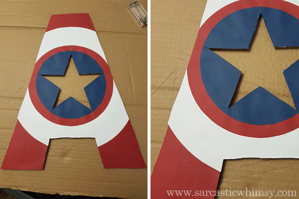 captain america led monogram tutorial