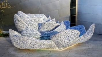 Art installation at the Walt Disney Concert Hall