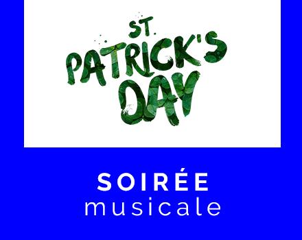 Soirée musicale à l'Irlandaise, mars 2018