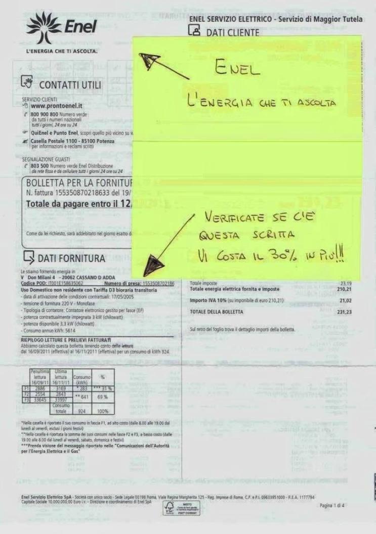 AVVISO IMPORTANTE: ENEL, ECCO COME PAGARE MENO E ...