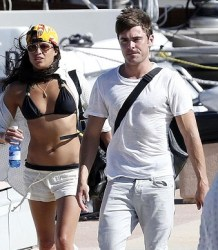 MICHELLE RODRIGUEZ AND ZAC EFRON IN SARDINIA