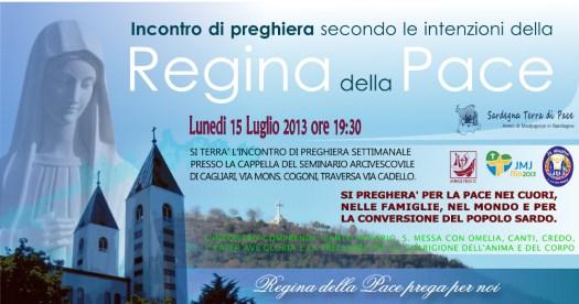 Locandina Incontro di Preghiera Settimanale del 15 Luglio 2013