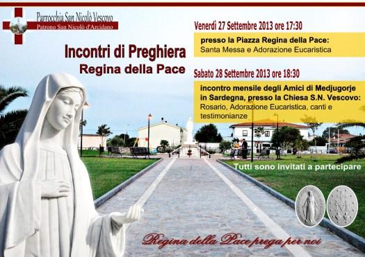 Locandina Incontro di Preghiera Mensile del 27-28 Settembre 2013