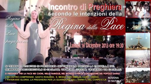 Locandina Incontro di Preghiera Settimanale del 16 Dicembre 2013