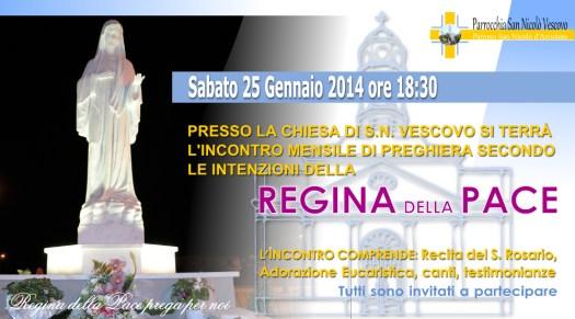Locandina Incontro di Preghiera Arcidano Gennaio 2014