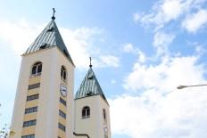 Medjugorje, Esaltazione della Croce 2014: campanili della Chiesa di San Giacomo - Foto di Sardegna Terra di Pace - Tutti i diritti riservati